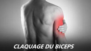 claquage au biceps