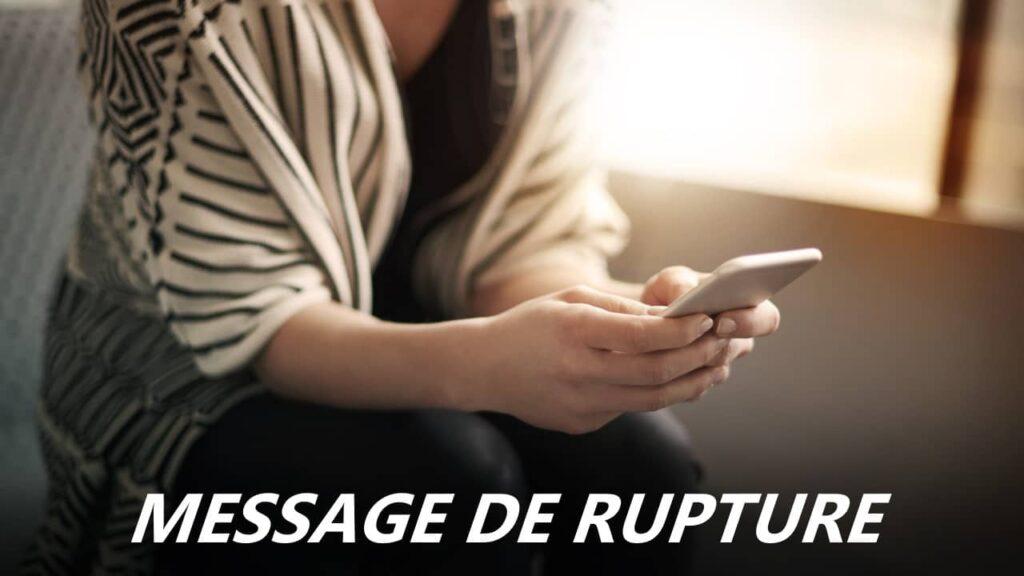 message de rupture